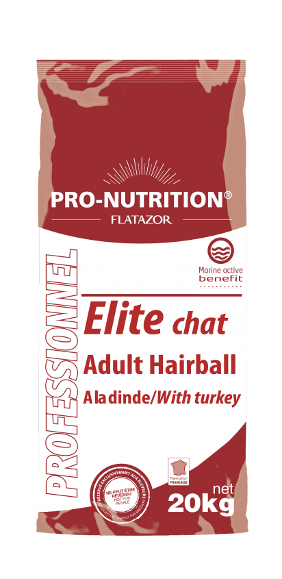 Chat Adult Hairball con pavo